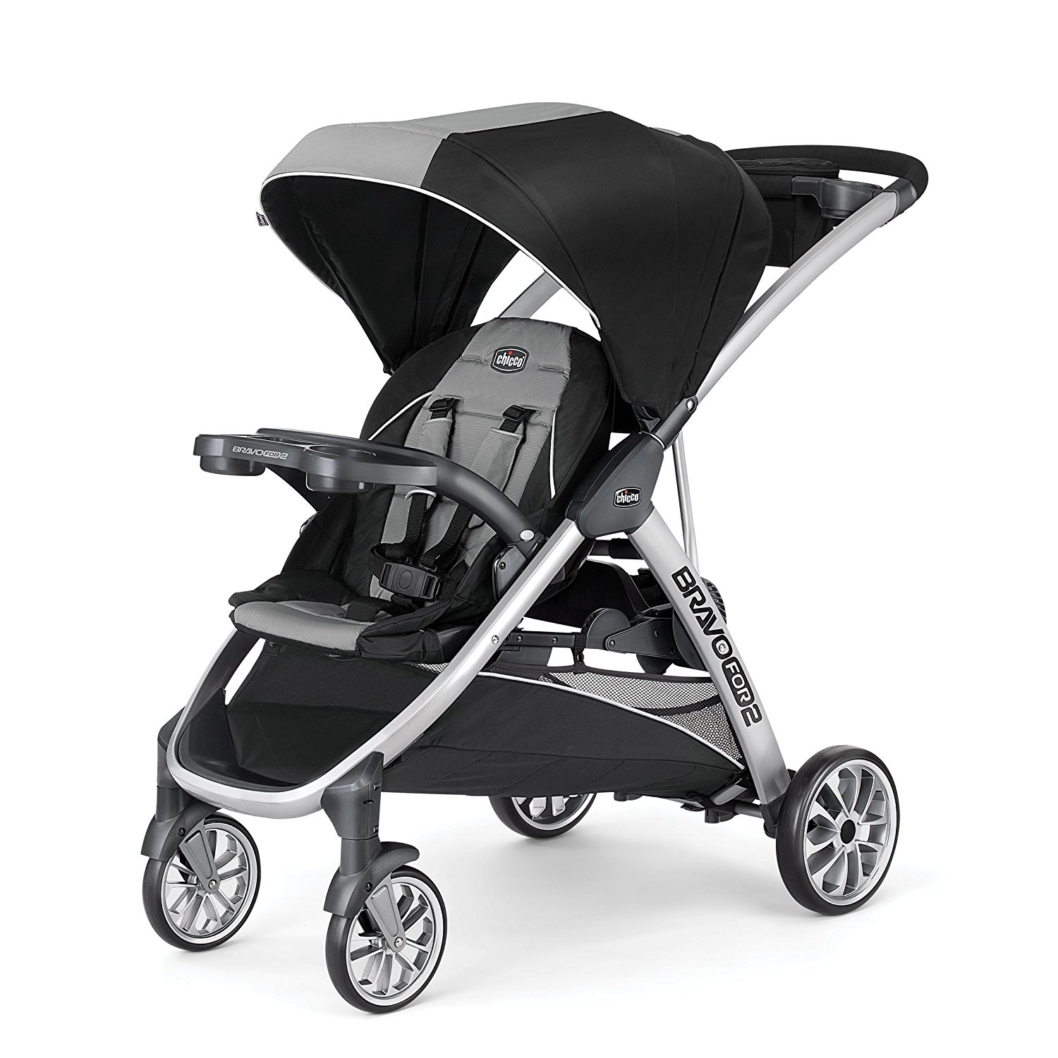 Chicco Bravo For 2 Double Stroller Zinc
