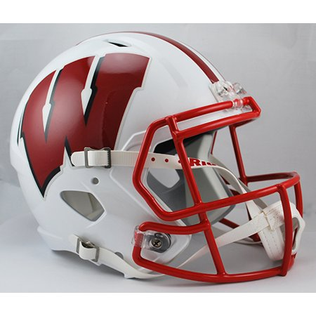 Wisconsin Badgers Deluxe Replica Speed Helmet (Riddell Wisconsin Badgers Replica Helmet)
