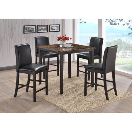 Baxton Studio Jet 5 Piece Counter Height Dining Set