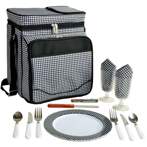 Houndstooth Picnic Cooler for 2
