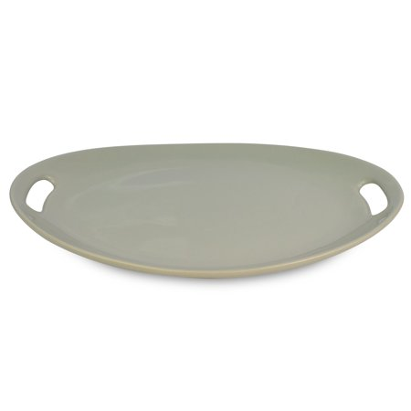 Le Regalo Stoneware Oval Platter, Microwave Oven Safe, Dishwasher Safe, Food Platter, Kitchen Serveware (PACK OF 2) ()