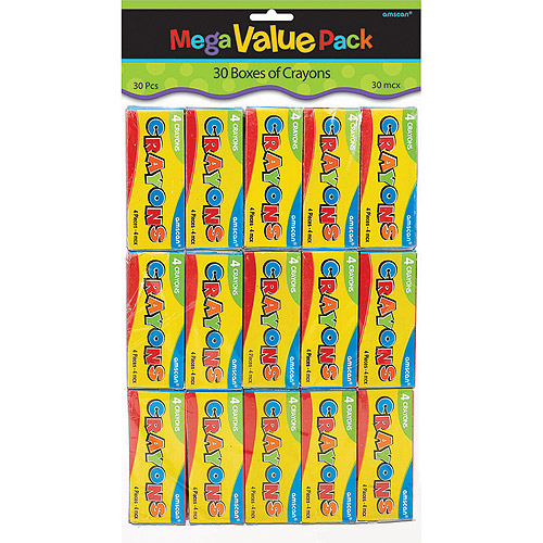 Amscan Mega Value Pack Party Favors, 30/pkg, Crayons