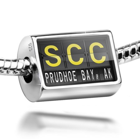Bead Scc Airport Code For Prudhoe Bay  Ak Charm Fits All European Bracelets