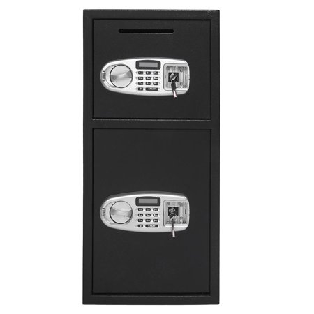 Ktaxon Large Double Door Digital Keypad Deposit Safe Cash Jewelry Gun Drop Security Lock Box