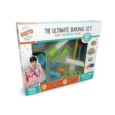 Gusto Ultimate Baking Set - Bake, Decorate, Play](Kids Real Baking Set)