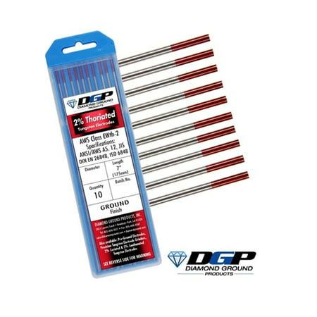 Diamond Ground TIG Welding Tungsten Electrodes 2% Thoriated Red 0.040
