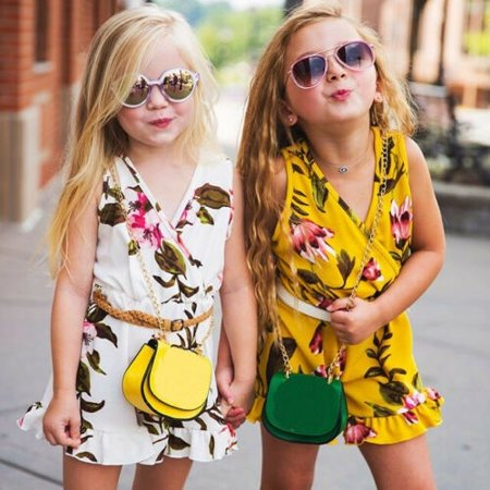 Baby Girls Floral Romper Outfit Summer Sleeveless Floral Bodysuit Jumpsuit Clothes (no