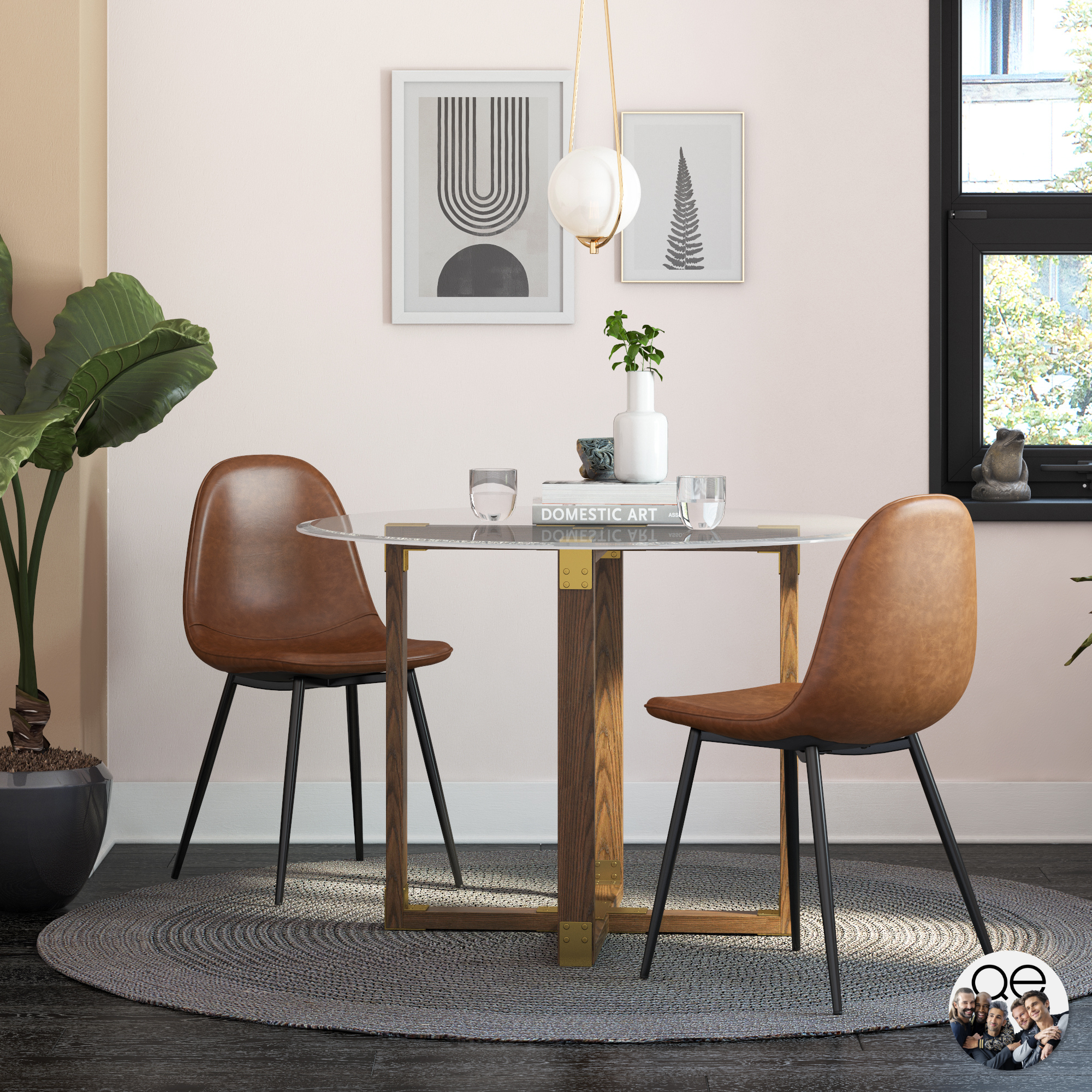 Queer Eye Coltin Upholstered Mid Century Modern Dining Chair Multiple Options Available Walmart Com Walmart Com,What Is The Best Color For A Metal Roof