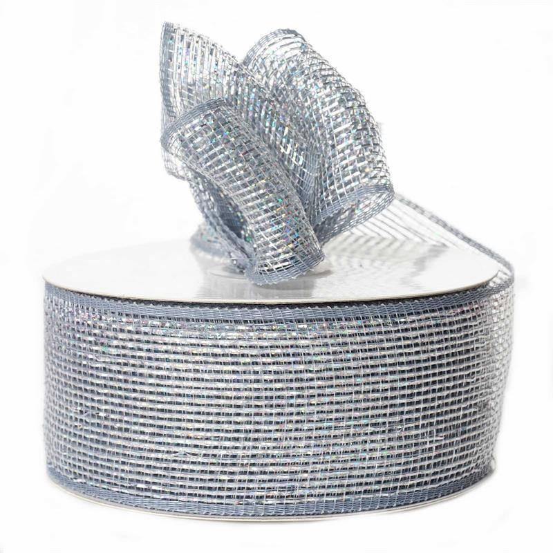 BalsaCircle 2.5-Inch x 25 yards Deco Mesh Ribbon by the Roll - Wedding Party Favors Decorations DIY Craft
