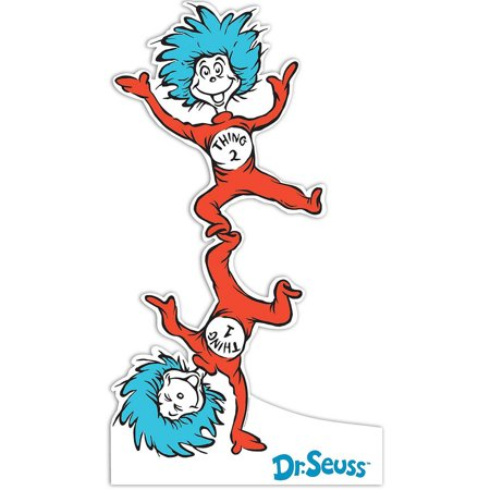 Dr. Seuss Thing 1 and Thing 2 Standup, 6' Tall - Thing One Thing Two