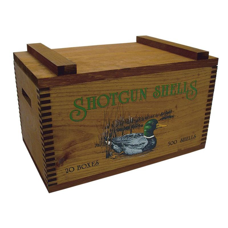Evans Sports Large Wooden Box-Ducks Print