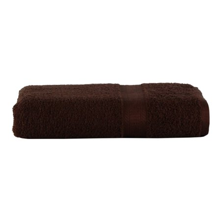 Mainstays Basic Bath Collection - Single Bath Towel, Solid Chocolate Brown