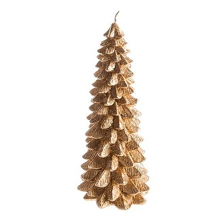 Gold Christmas Tree Taper Candle