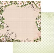"Vintage Rose Garden Double-Sided Paper 12""X12""-Time"