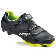 Northwave, Scorpius 2 SRS, MTB shoes, Black/Yellow Fluo, 43