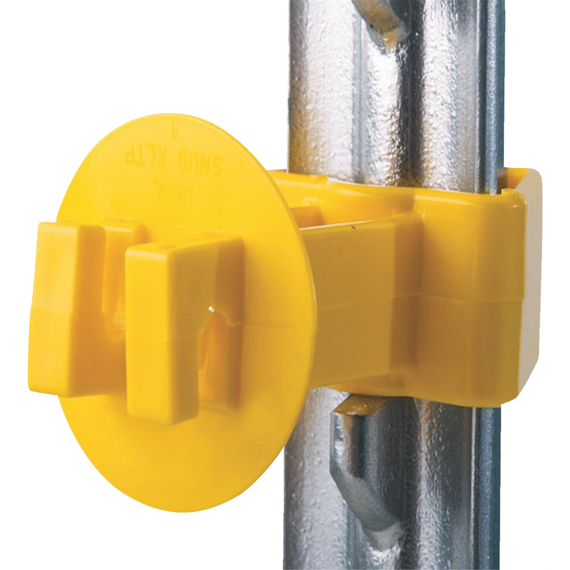 SNUG EXTRA LENGTH T-POST INSULATOR YELLOW 25 PACK