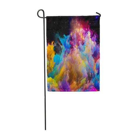 JSDART Color Kingdoms Series Composition of Fractal Paints and Lights Subject Garden Flag Decorative Flag House Banner 12x18 inch - image 1 of 1