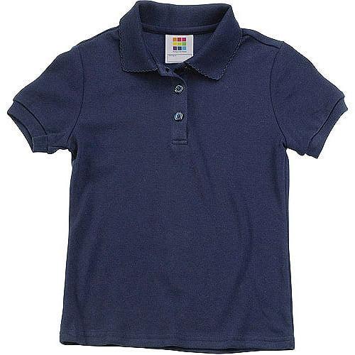 Healthtex Baby GIrls' Short Sleeve Interlock Polo Shirt