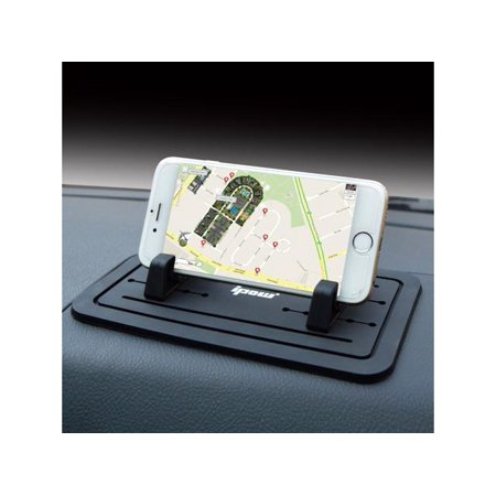 Car Dash Pad Mat, IPOW Car Cell Phone Mount Silicone Sticky Pad Non-slip Mobile Dashboard Mat Stand Holder Cradle Dock (Dash Mat Mount)