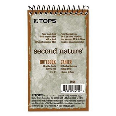550 Notebook - Second Nature Subject Wirebound Notebook, Narrow, 3 x 5,50 Sheets (TOP74135),2PK