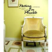 Everything Vinyl Decor Audrey Hepburn Quote 'Impossible' Inspirational Vinyl Wall Art