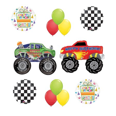 Monster Truck Birthday Party Supplies and Balloon Bouquet Decorations (Monster Truck Birthday Party Supplies)