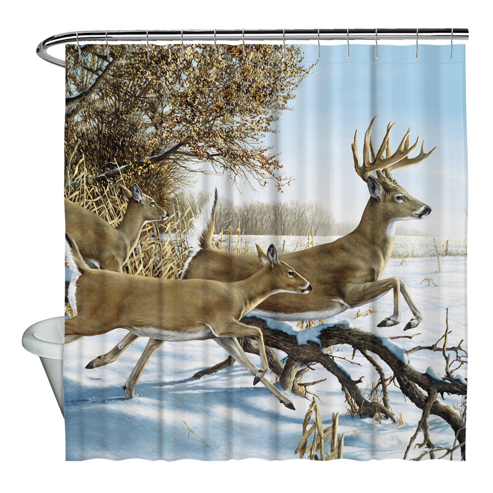 Wild Wings Breaking Cover 2 Shower Curtain White 71X74