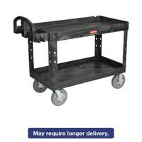 Rubbermaid Commercial Heavy-Duty Utility Cart, Two-Shelf, 26w x 55d x 33 1 4h, Beige by RUBBERMAID COMMERCIAL PROD.
