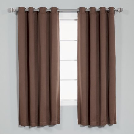 Best Home Fashion Inc Basic Blackout Thermal Curtain Panels Set Of 2