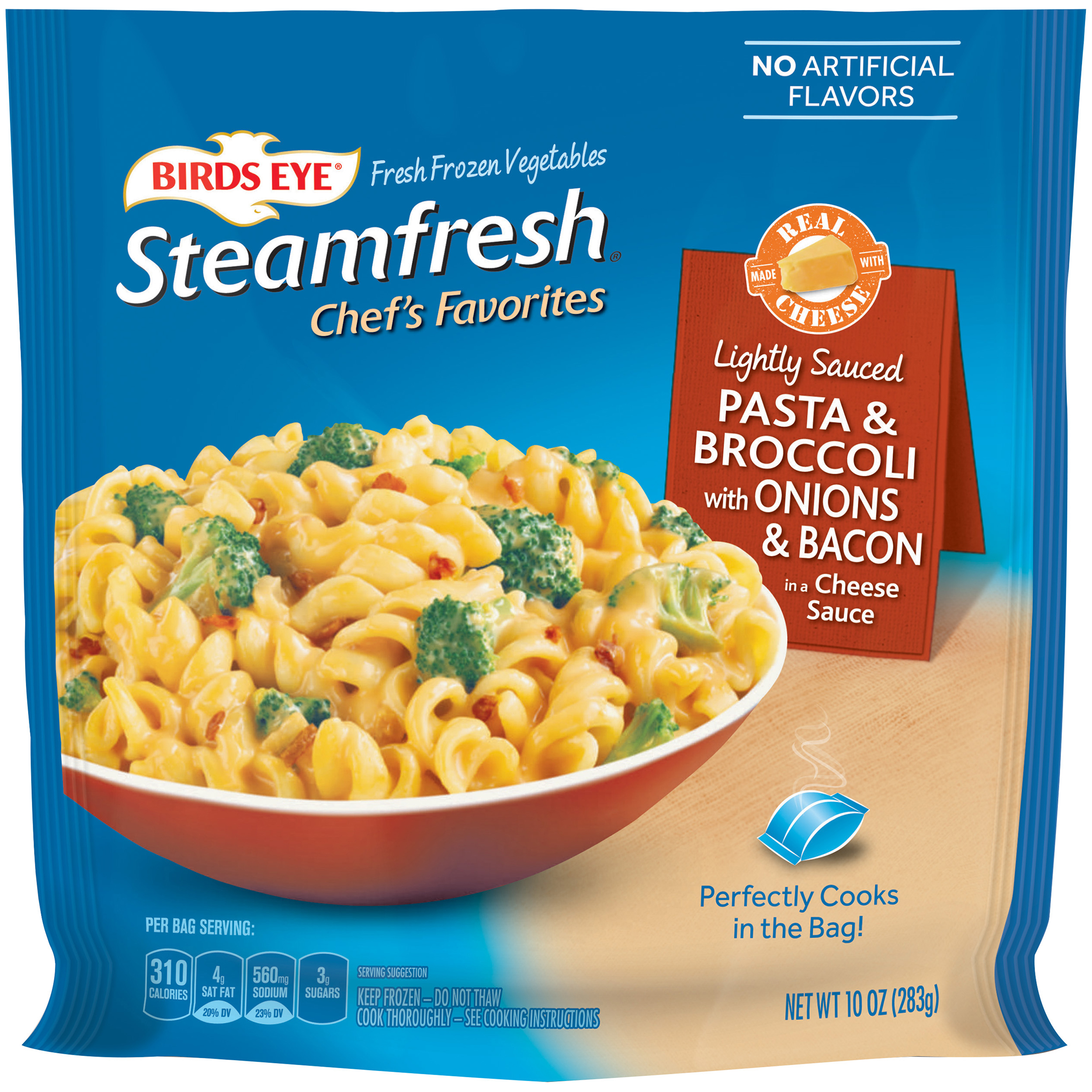 Birds Eye® Steamfresh® Chef's Favorites Pasta & Broccoli with Onions & Bacon in a Cheese Sauce 10 oz. Bag