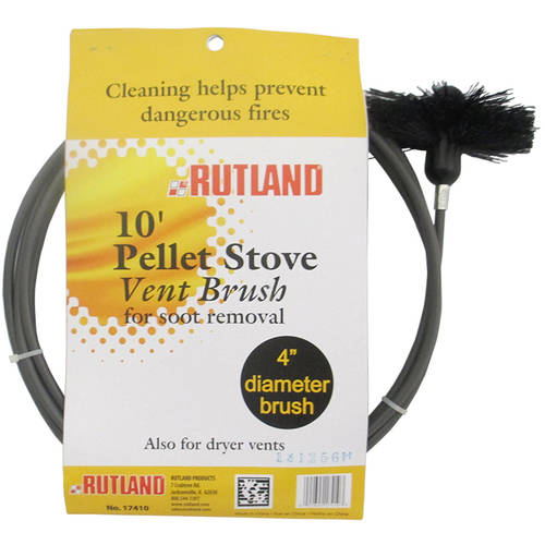 """4"""" Pellet Stove Dryer Vent Brush With 10' Flexible Handle by Rutland Products"""
