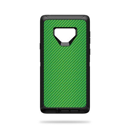 Skin For OtterBox Defender Galaxy Note 9 - Lime Carbon Fiber | Protective, Durable, and Unique Vinyl Decal wrap cover | Easy To Apply, Remove, and Change Styles