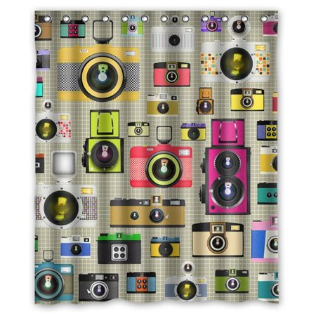 XDDJA Camera Shower Curtain Waterproof Polyester Fabric Shower Curtain Size 60x72 inches - image 1 of 1
