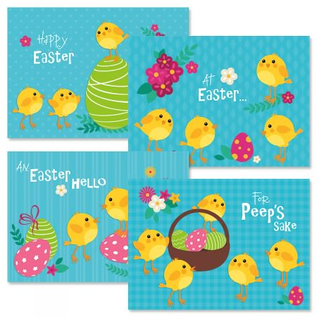 Chicks Easter Greeting Cards - Set of 8 (2 of each design) 5