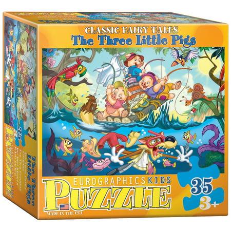 The Three Little Pigs - 35 Piece Jigsaw Puzzle - - Jigsaw Pig