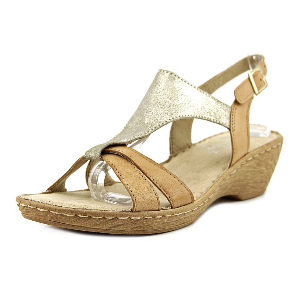 Bella Vita Gubbio Open Toe Leather Wedge Sandal by Bella Vita