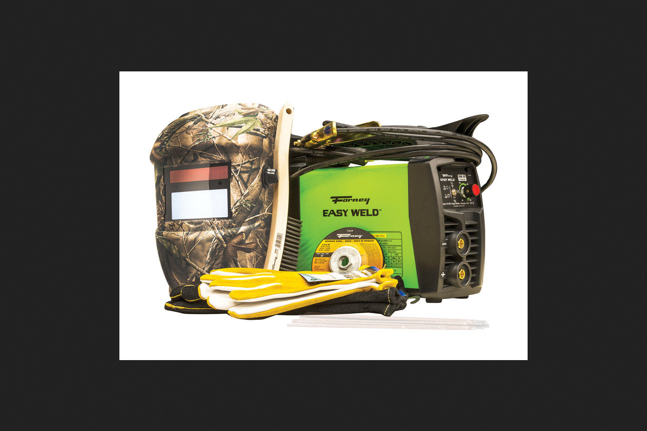 Click here to buy Forney Industries Easy Weld Arc Welder Start-Up Kit 8 pc. Green Camo by Forney Industries.