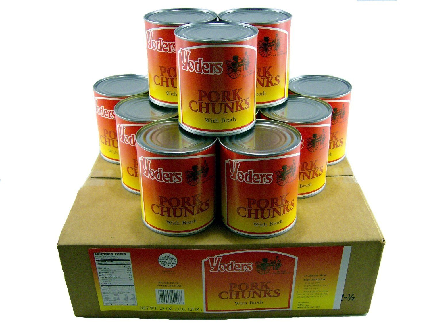 Yoder's 12 Can Box Pork Meat 28oz Each by Yoders