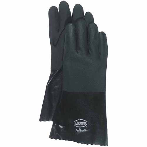 Boss Jersey Lined PVC Coated Chemical Gloves