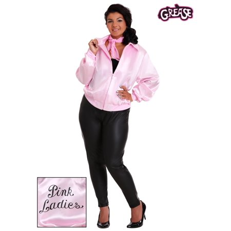 Grease Plus Size Pink Ladies Jacket](Pink Lady Jacket Grease)