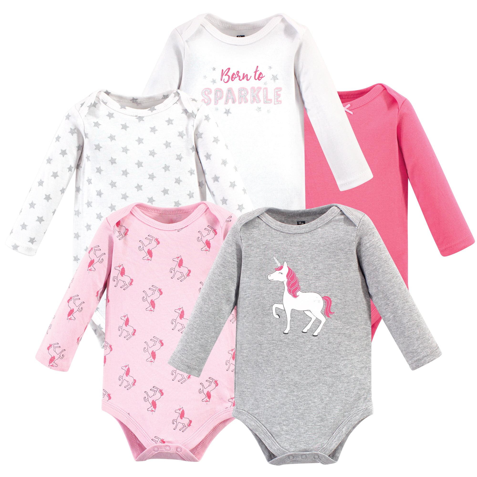 Flamingo and Sloth Baby Boy Long Sleeve Baby Girls Assorted Short Sleeve Bodysuit Onesies