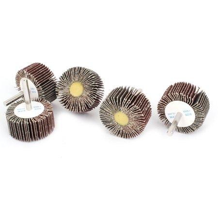 Shaft Disc (Unique Bargains 5pcs 80 Grit 50mm x 25mm x 6mm Fixed Shaft Grinding Flap Wheel Disc Rosybrown)