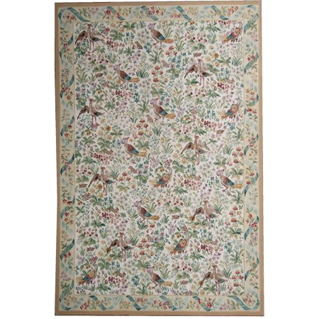 Aubusson Area - Pasargad Aubusson Hand-Woven New Zealand Wool Area Rug