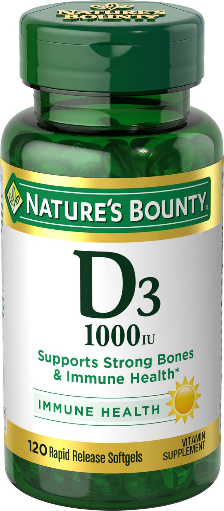picture relating to Nature's Bounty Coupon Printable $5 known as Vitamin D -