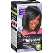 Dark and Lovely Go Intense!  Hair Color, No.21, Original Black,  1 ea (Pack of 3)