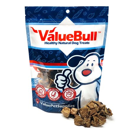 ValueBull USA Roasted Beef Lung Dog Chews, 3.5