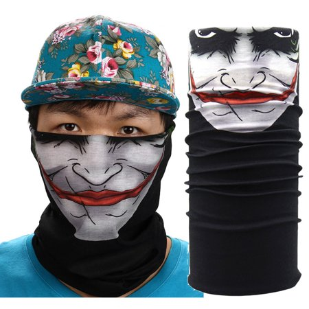New Cycling Motorcycle Neck Tube Ski Scarf Face Mask Balaclava Halloween Party - Scary Pretty Halloween Face Paint