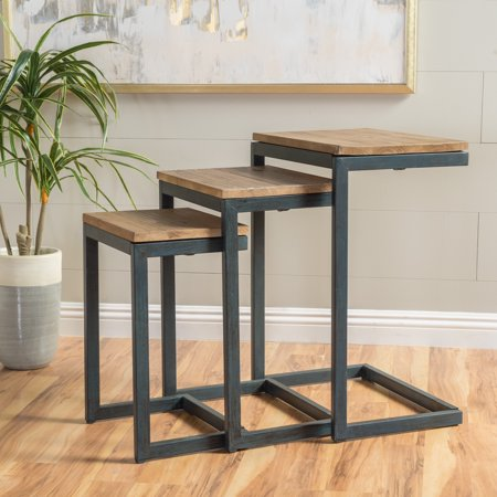 Art Deco Nesting Tables - Noble House Deena Firwood Antique Nesting Tables