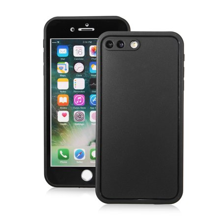 online retailer f7f7f 4a321 Grtsunsea iPhone 8 Plus Case Cover Waterproof Dust Shockproof Hybrid Case  PET+PC+TPU Full Cover Protector Clear Black