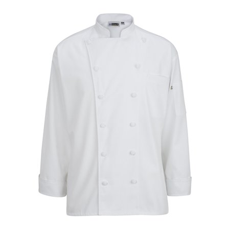 EDWARDS 12 CLOTH BUTTON CLASSIC CHEF COAT